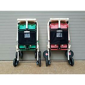 Xe đẩy du lịch (có mái che, phanh chân, bảo hiểm, túi đồ)