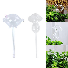 2pcs Plant Watering Bulbs Glass Self-Watering Stakes Irrigation Device Set