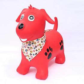 Thú nhún cao cấp Toys House chính hãng kèm bơm cho bé (mẫu cún đỏ)
