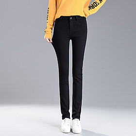 Women's Korean Slim Slimming Jeans Women's New Trendy Straight Leg Pants Large Size Pants Wholesale (26)