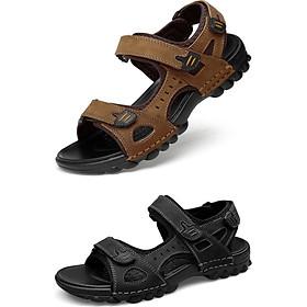 Giày sandal big size cỡ lớn cho nam cao to bằng da bò cao cấp - DL006