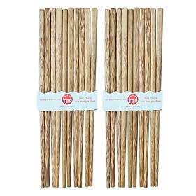 Bộ 10 đũa gỗ dừa vuông  TABAFACO