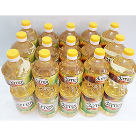 15 chai Dầu ăn hướng dương Nga cao cấp tốt cho tim mạch - Zateya 1L