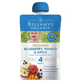 Hỗn Hợp Việt Quất, Xoài, Táo Hữu Cơ Xay Nhuyễn Bellamy's Organic