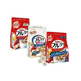 Set 03 túi ngũ cốc trái cây ăn liền Calbee (Full vị) - Nhập khẩu Nhật Bản
