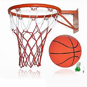 Vành bóng rổ 40cm +quả bóng rổ số 7 (tặng túi lưới và kim bơm)