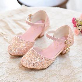 Giày cao gót cho bé gái 3 - 12 tuổi kim sa lấp lánh GE98