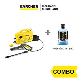 Combo Máy phun rửa áp lực cao Karcher K2 classic + Nước rửa 3 in 1 (1L)