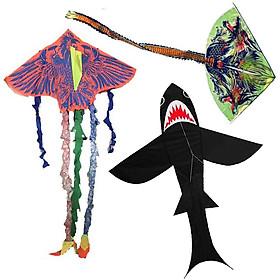 Diều siêu nhân, đại bàng, cá mập - Đồ chơi diều thả dây cho trẻ em, phụ kiện du lịch,dã ngoại, picnic ( Loại trung) - Mẫu Ngẫu Nhiên