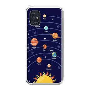 Ốp lưng dẻo cho điện thoại Samsung Galaxy A51 - 0342 SOLARSYSTEM02 - Hàng Chính Hãng