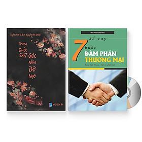 Combo 2 sách: Trung Quốc 247: Góc nhìn bỡ ngỡ (Song ngữ Trung - Việt có Pinyin) + Sổ tay 7 bước đàm phán thương mại + DVD quà tặng