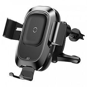 Đế giữ điện thoại kiêm sạc nhanh không dây Qi 3.0 10W Baseus Smart Vehicle Bracket - Hàng chính hãng (Đen)