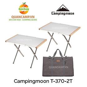 Bộ bàn dã ngoại gấp gọn Campingmoon T-370-2T (Bộ 2 chiếc)