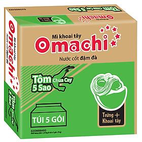 Thùng 30 Gói Mì Omachi Hương Vị Tôm Chua Cay 5 sao (78gr/Gói)