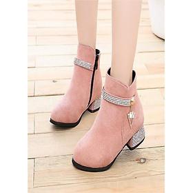 Giày bốt cho bé gái phong cách hàn quốc EB002