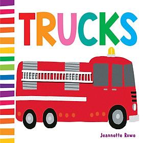 Sách : Jr Baby Board Books Trucks - chủ đề xe cộ  ( Sách Nhập Khẩu )