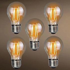 Combo 5 Bóng Đèn LED G45 Giả Sợi Đốt Công Suất 4W Dùng Để Trang Trí Và Chiếu Sáng