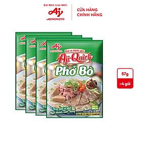 [COMBO 23] Lốc 4 Phở Bò Aji-Quick 57g