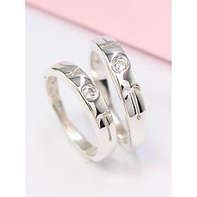 Nhẫn đôi bạc nhẫn cặp bạc cung hoàng đạo - cung bạch dương ND0331