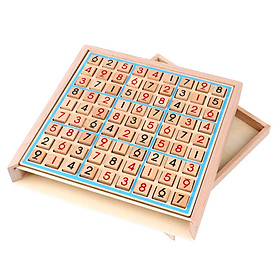 Folding Sudoku Chess Table Game Toy Early Educational Family Party Toy Wooden Chess Children Game Intelligence