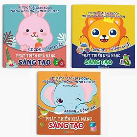 Combo 3 cuốn: Miếng dán Thông minh cho bé - My First Sticker Book