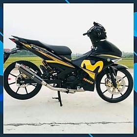 Tem rời dành cho xe Exciter 150 movistar vàng đen (bộ)