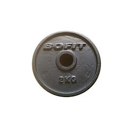 Tạ đĩa sắt Bofit 2kg (1 cục)