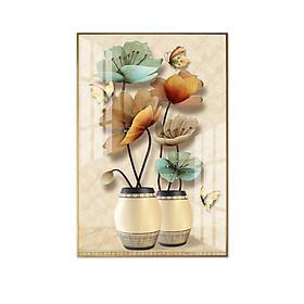 Tranh treo tường phòng khách phòng ngủ nhà bếp Bình hoa nghệ thuật BK_LoHoaDon_013_Ver2