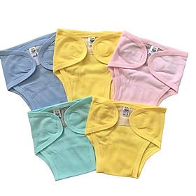 Combo 5 tả vải, tả dán cotton mềm, mịn cho bé sơ sinh Thái Hà Thịnh ( tặng kèm 1 đôi tất sơ sinh amigo như hình)-3