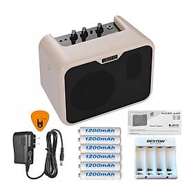 Ampli Cho Đàn Guitar Bass Joyo MA-10B 10W - Kèm Nguồn, 6 Cục Pin Sạc, Bộ Sạc Pin (Loa Amplifier) - Nhạc Cụ Mộc - Kèm Móng Gảy DreamMaker