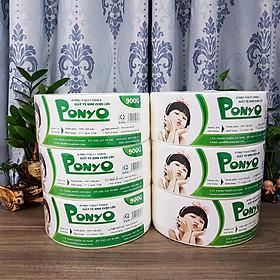 Combo 6 cuộn giấy vệ sinh cuộn lớn 900g PONYO