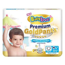 Tã Quần BabyLove GoldPants M17 (Gói 17 Miếng)