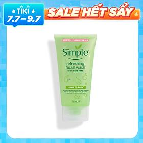 Sữa rửa mặt Simple Kind To Skin Refreshing Facial Wash Gel - 50ml