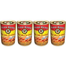 Lốc 4 Lon Đậu Sốt Cà Chua Phô Mai Ayam Brand (425g x 4)