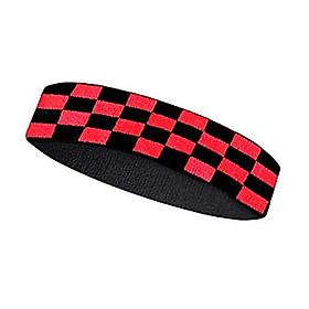 Headband V bts băng đô thể thao đen kẻ caro