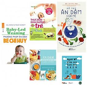 combo ăn dặm bé chỉ huy+ăn dặm không phải là cuộc chiến+thực đơn dinh dưỡng cho trẻ từ 0-3 tuổi+sổ tay ăn dặm của mẹ (bản đặc biệt tặng kèm sách người Mỹ dạy con ham đọc sách)