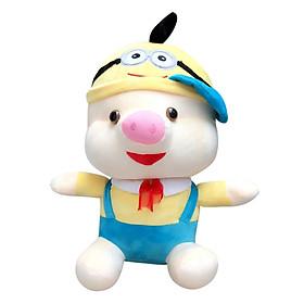 Gấu Bông Lợn Nón Minion Ichigo Shop (40cm) - Xanh
