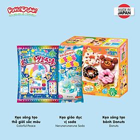 Combo 3 hộp kẹo Popin Cookin đồ chơi sáng tạo ăn được : Bánh Donut + 2 hộp kẹo tự chọn chính hãng