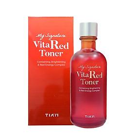 Nước Hoa Hồng Dưỡng Trắng, Se Khít Lỗ Chân Lông Tia'm My Signature Vita Red Toner 130ml