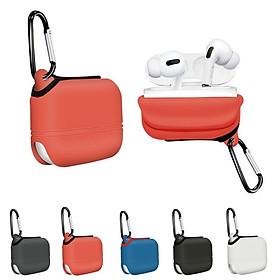 Vỏ bao silicon bảo vệ tai nghe Airpods Pro có kèm móc gắn chìa khoá, balo tiện lợi