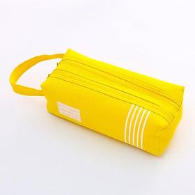 Hộp bút vải vuông 2 dây kéo V2 - nhiều màu