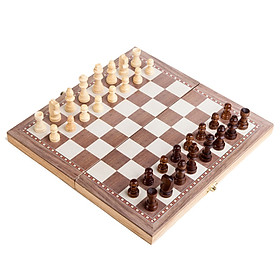 Wooden International Chess Set Entertainment Game Chess with Folding Board