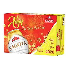 Thùng 24 Lon Bia Sagota Gold (330ml x 24)