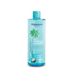 Sữa tắm, rửa mặt không xà phòng hương dừa cho da thường, da hỗn hợp, da dầu mụn, da nhạy cảm Stanhome All Purpose Shower Coco 400ml