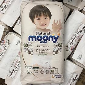 [MẪU MỚI] Bỉm quần Moony Natural size L36