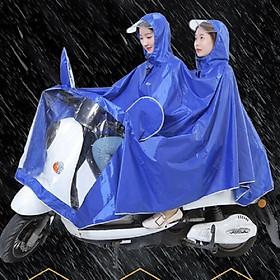 Áo mưa phản quang 2 đầu có kính che mặt bọc gương