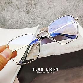 Kính Giả Cận, G�ng Kính Cận Nam Nữ Mắt Vuông Vi�n Dày Bạc Hàn Quốc - BLUE LIGHT SHOP