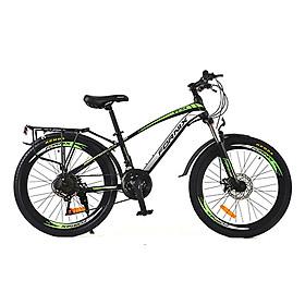 Xe đạp địa hình hiệu Fornix FT24, vòng bánh 24'', màu Đen xanh lá