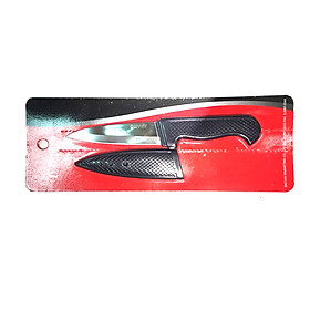 Dao Gọt Trái Cây Thái Lan Amezon 10cm - Kèm vỏ bọc dao màu đen, Lưỡi Dao Làm Từ Thép Nhập Khẩu Đức Bền, Độ Sắc Bén Lâu Dài - Cán Nhựa Màu Đen