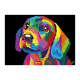 DIY 5D Diamond Painting Colorful Dog Full Drill Crystal Rhinestone Embroidery Paintings Arts Craft for Home Wall Decor